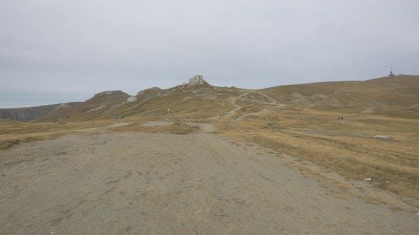 Die getrockneten Klippen des Bucegi-Gebirges