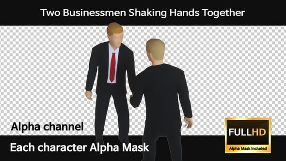 Thumbnail for Two Businessmen Shaking Hands Together