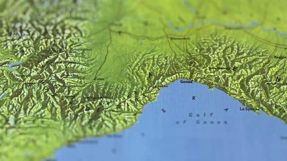 Thumbnail for Alps On Paper Map, Slider Shot