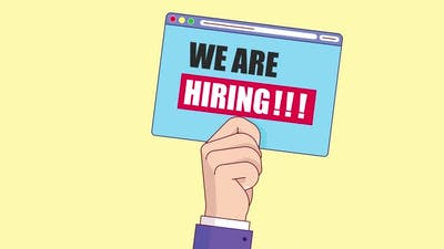 We Are Hiring animation