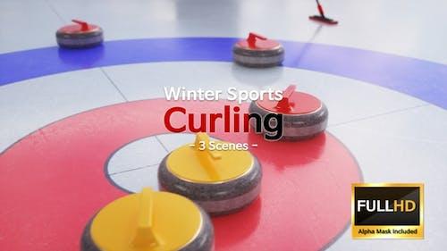 Winter Sports Curling (3 Scenes)