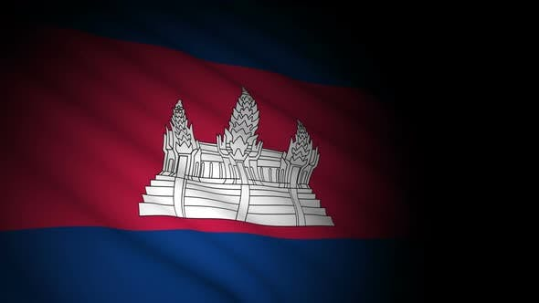 Thumbnail for Cambodia Flag Blowing in Wind