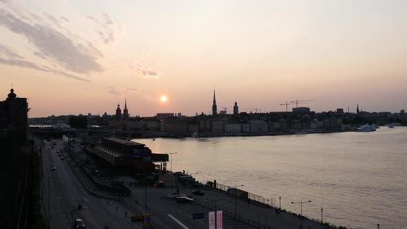 Thumbnail for Sunset time lapse from Gamla stan and ridderholmen islands