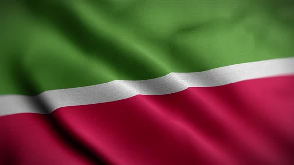 Tatarstan Flag Textured Waving Close Up Background HD