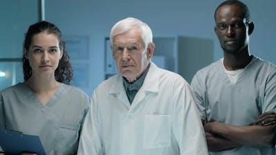 Portrait of Team of Multiage Diverse Lab Scientists