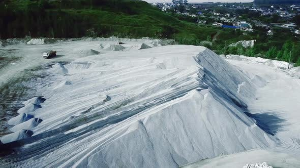 Thumbnail for Aerial view of opencast mining quarry
