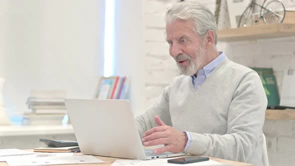 Thumbnail for Excited Old Man Amazed By Results