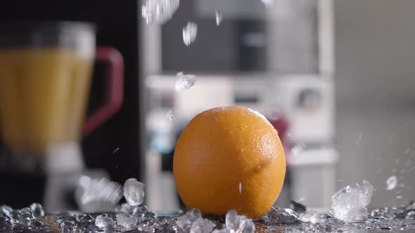 Thumbnail for Orange and Ice for Refreshing Drink