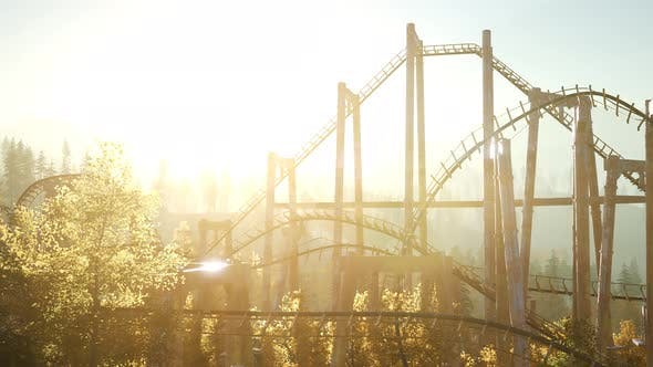 Thumbnail for Old Roller Coaster at Sunset