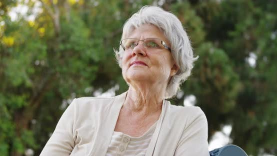 Thumbnail for Senior woman enjoying the fresh air