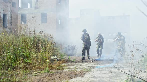 Thumbnail for Soldiers Running through Smoke