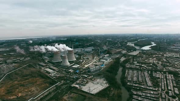Thumbnail for Aerial View of Power Plant