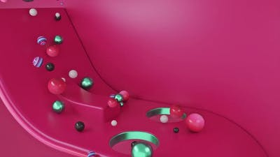 Falling colored balls background