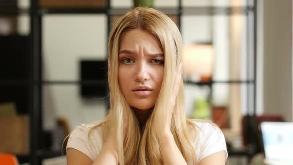 Amazed , Shocked Girl Reacting on Loss
