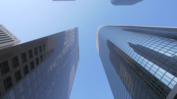 Low angle of skyscrapers