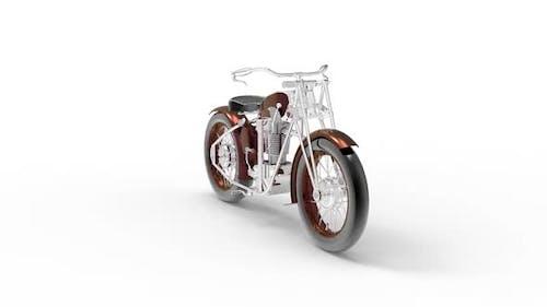 Klassisches Motorrad im alten Stil
