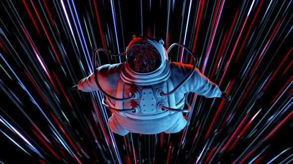 Cover Image for Epic Person Spaceman in the Space Suit Looking Around in Wonder Stars