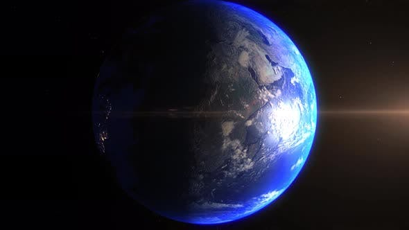 Realistic Earth Zoom In Night Lights Clouds South America Brazil Brasilia