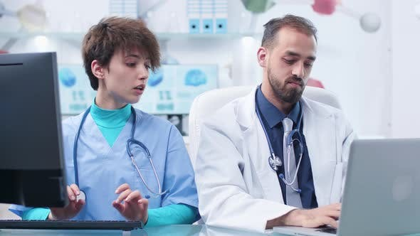 Thumbnail for Physician Explaining Something To a Student Nurse