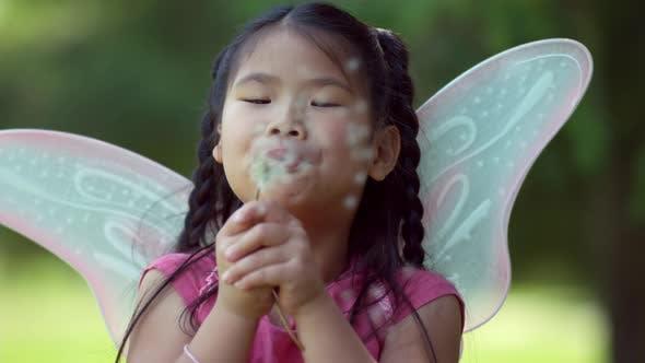 Thumbnail for Fairy princess girl blows wish, shot on Phantom Flex 4K
