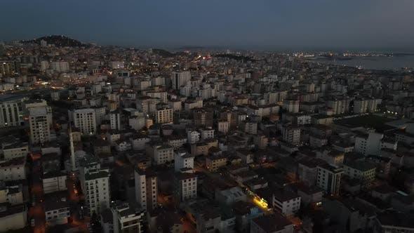 Aerial Urban City View