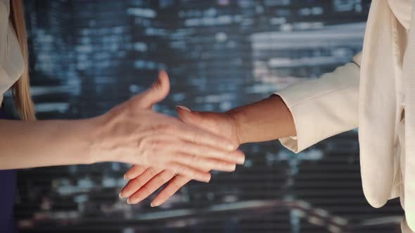 Thumbnail for Close Up of Two Business Women Shaking Hands with Each Other