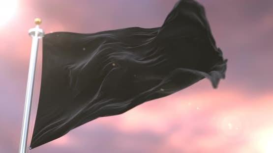 Black Flag at Sunset
