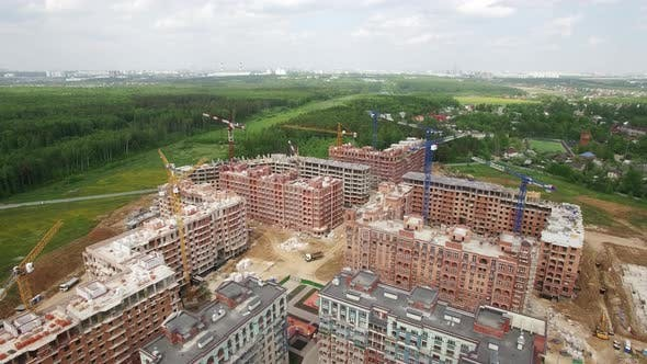 Cover Image for Aerial View of Residential Compound in New Moscow, Russia