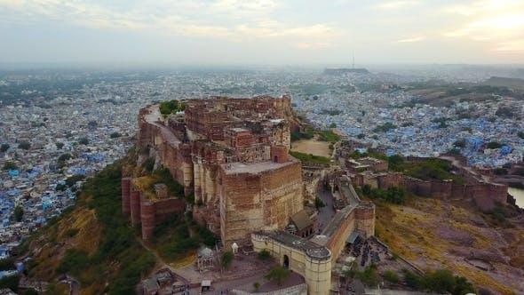 Thumbnail for Aerial View of Mehrangarh Fort in Jodhpur, Rajasthan, India