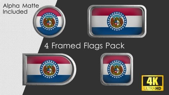 Missouri State Flag Framed