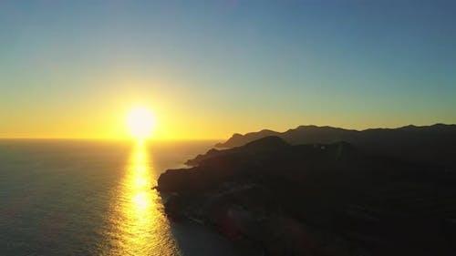 Ein Traum wie Sonnenuntergang über in Spanien