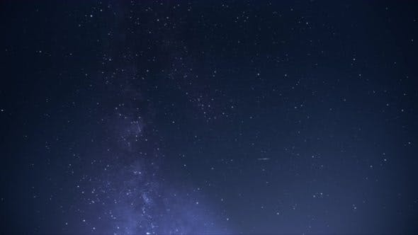 Night view of the milky way galaxy