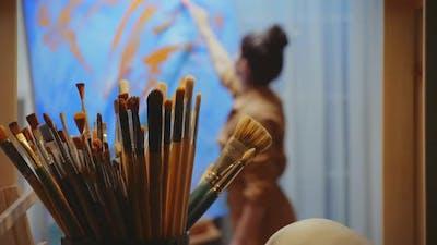 Paint Brush in Focus