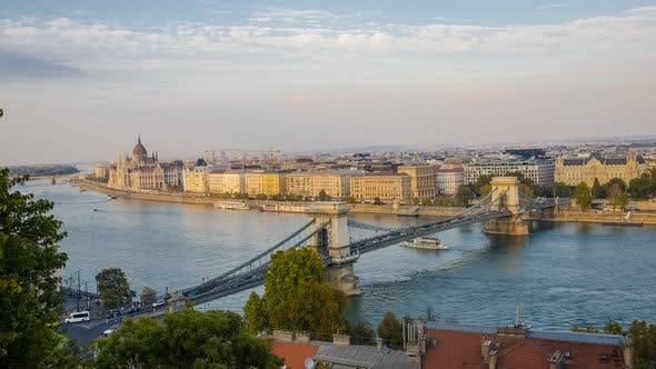 Thumbnail for Panoramic view of Budapest and Parliament Building in Hungary in a beautiful autumn.
