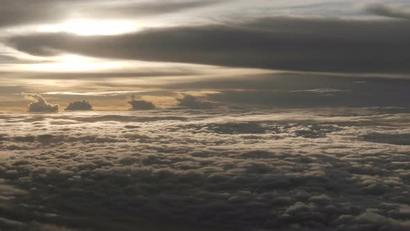 Thumbnail for Aerial Over Clouds Sunset