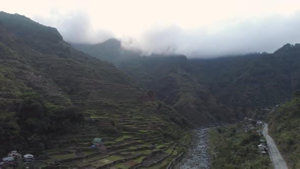 Rice Terraces Mountains