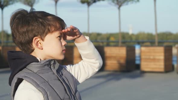 Thumbnail for The Schoolboy Looks Through Binoculars