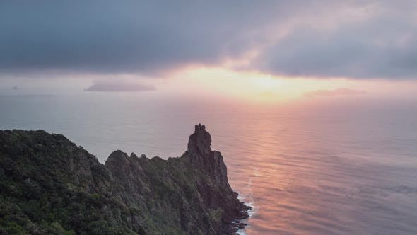 Sunrise over Ocean Coast