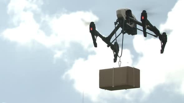 Thumbnail for Delivering Parcel With Modern Drone