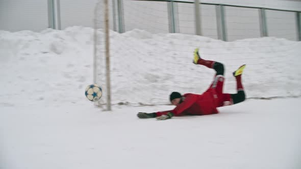 Cover Image for Winter Soccer Penalty Save