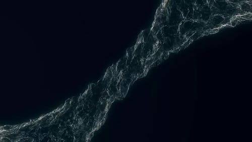 Soft water silk gentle flow and waving digital simulation