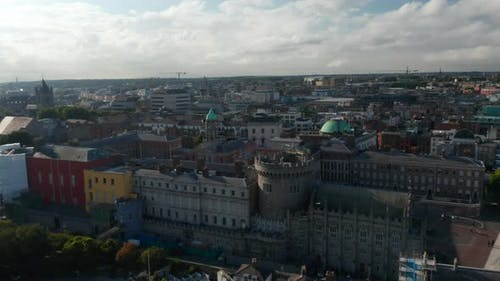 Slide and Pan Shot of Dublin Castle Complex