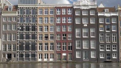 Dutch houses on waterside, Amsterdam