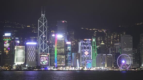Thumbnail for Light Show in Hong Kong and Ferry Boat