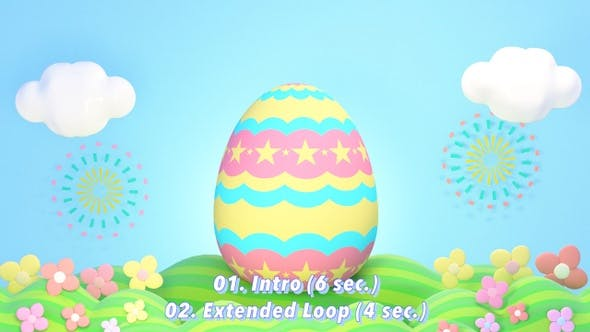 Thumbnail for 3D Happy Easter Greetings