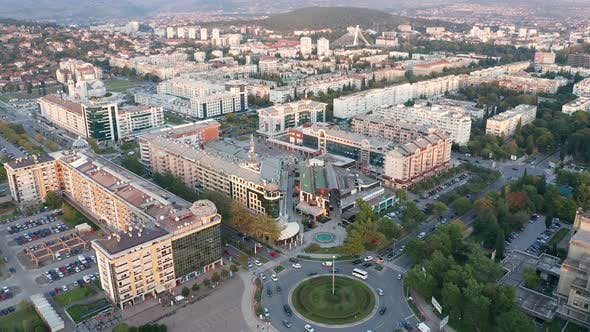 Thumbnail for Podgorica Montenegro in the afternoon. Cityscape of the capital of a small country in the Balkans