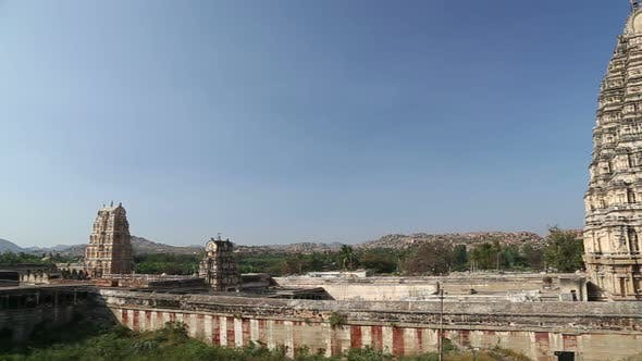 Thumbnail for Aerial view of temple in Hampi, a village in northern India.