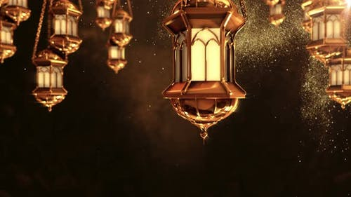 Ramadan Lantern Background Loop 2