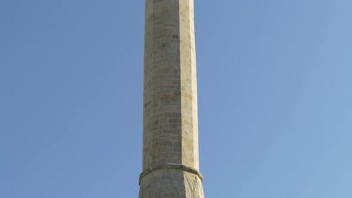 Minaret of the mosque in Mostar