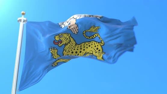 Pskov City Flag, Russia